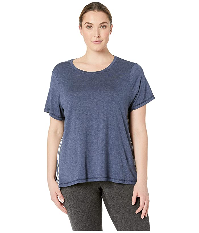 SHAPE Activewear Plus Size Track Star Tee (Navy) Women