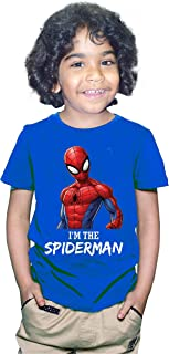 FMstyles - I'm The Super Hero Spiderman Royal Blue Kids Tshirt - FMSK1003