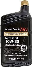 Genuine Honda Fluid 08798-9035 10W-30 Blended Synthetic Motor Oil - 1 Quart Bottle