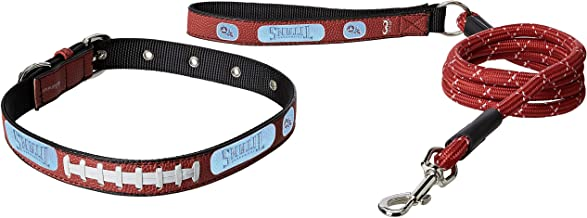 NFL Tennessee Titans Pebble Grain Football Collar & Leash Gift Pack, Large, Brown
