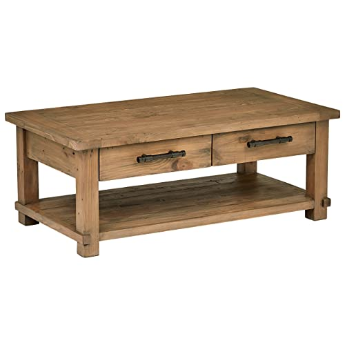 Amazon Brand – Stone & Beam Ferndale Rustic Coffee Table, 51 W, Sandstone