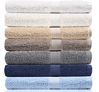 CrystalTowels Towels - Extra-Absorbent - 100% Cotton 7 Piece Set