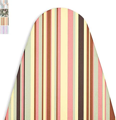 Encasa Homes Replacement Ironing Board Cover with Extra Thick Pad, Made in India, Standard (Fits Large Boards 15 x 54...