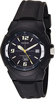 casio analog watch ten year battery life for boys