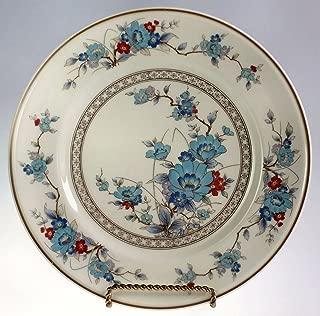 Noritake Versatone Bleufleur Salad Plate Blue and Rust Oriental Floral 8.25