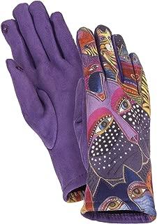 FANTASTICATS MicroSuede Women's Gloves - Cats on Purple