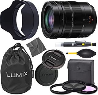 Panasonic Leica DG Vario-Elmarit 12-60mm f/2.8-4 ASPH. Power O.I.S. Lens (H-ES12060) + AOM Pro Starter Bundle Kit - International Version (1 Year AOM Warranty)