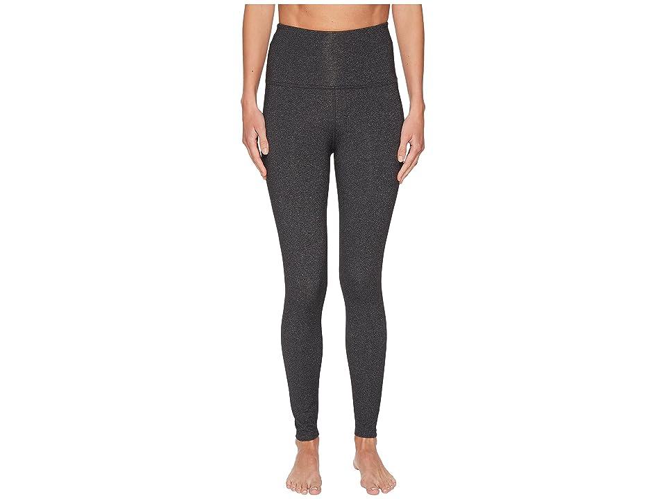 Beyond Yoga High-Waisted Midi Leggings (Heather Gray) Women