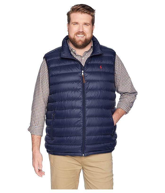 Polo Ralph Lauren Big & Tall Big Tall Lightweight Packable Down Vest (Aviator Navy) Men