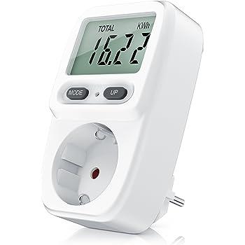 Consumo de energía,Meterk Medidor de potencia Plug-in LCD Medidor ...