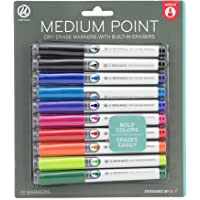 10-Count U Brands Low Odor Medium Point Dry Erase Markers