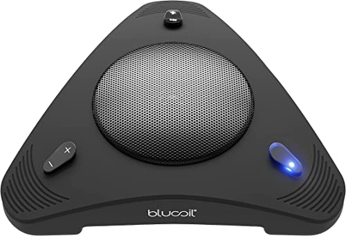 new arrival Blucoil USB Portable Conference Speaker lowest & Omnidirectional popular Microphone with 360° Voice Pickup and Echo Cancellation for Zoom, Google Meet, Skype, and Other Call apps on Windows, Mac, Linux, and Chrome sale