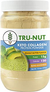 Tru-Nut Keto Collagen Protein Powder (10.6oz, 12 Servings) : Low Carb Protein Blend with MCT Powder, Use for Keto Drinks and Snacks, Gluten Free