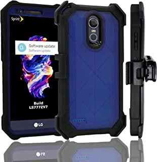 LG Stylo 3 Case, Customerfirst Rugged Holster Dual Layer Case with Kickstand, Belt Swivel Clip For LG Stylo 3 (2017 Release) (Blue)