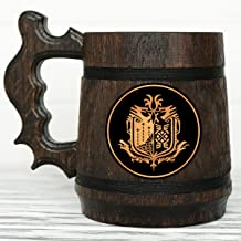 Monster Hunter World Mug. Personalized MHW Beer Mug. Gamer Gift. Custom Beer Mug. Personalized Beer Mug. Wooden Beer Mug. Gamer Mug. Monster Hunter Tankard #107/0.6L / 22 ounces