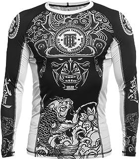 Rashguard Camisa de Compresión Hombre Manga Larga MMA BJJ No-Gi