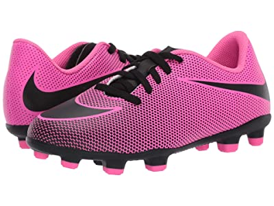Nike Kids Jr Bravata II FG Soccer (Toddler/Little Kid/Big Kid) (Pink Blast/Black/Black) Kids Shoes