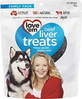 Love'em Beef Liver Dog Treats 250 g