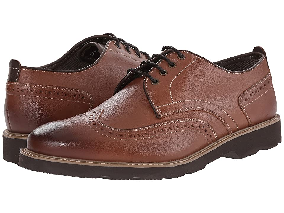 Florsheim Casey Wingtip Oxford (Cognac Smooth) Men