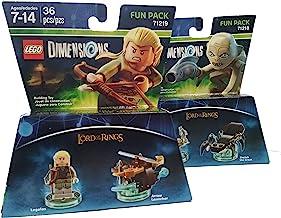 Lord of The Rings Gollum Legolas Dimensions Bundle-2 items Gollum, Legolas