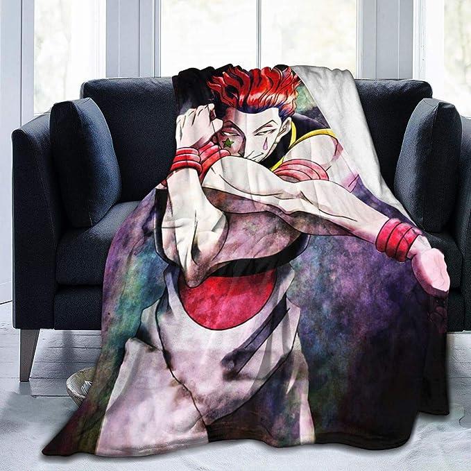 Bed JAPYZEY Hunter X Hunter Fleece Blanket Lightweight Anime Throw Blankets for All Seasons Sofa Travel 50x40 Super Soft Fluffy Microfiber Flannel Plush Throw Blanket for Couch