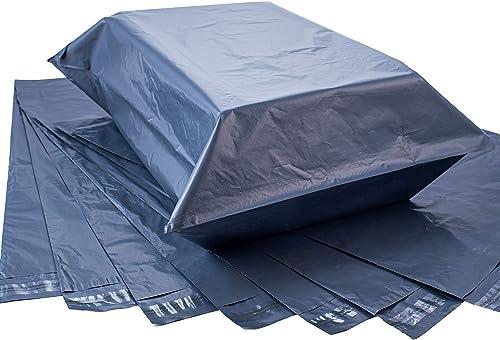 Calzette 10x Grand sac de courrier en plastique 43 cm x 60 cm - Sacs d'expédition pour envoi et emballage avec fermet...