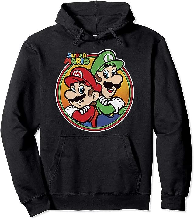 Nintendo Super Mario & Luigi Brothers Circle Graphic Hoodie