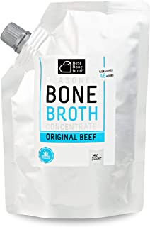 Premium Beef Bone Broth Concentrate Pouch - Maximized Nutrition Bone Broth On The Go - No Hormones or Additives, Delicious Natural Flavor, Sourced From AU & NZ Beef - Beef Broth 8.81 FL OZ