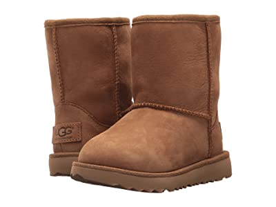 UGG Kids Classic II Waterproof (Toddler/Little Kid) (Chestnut) Kids Shoes