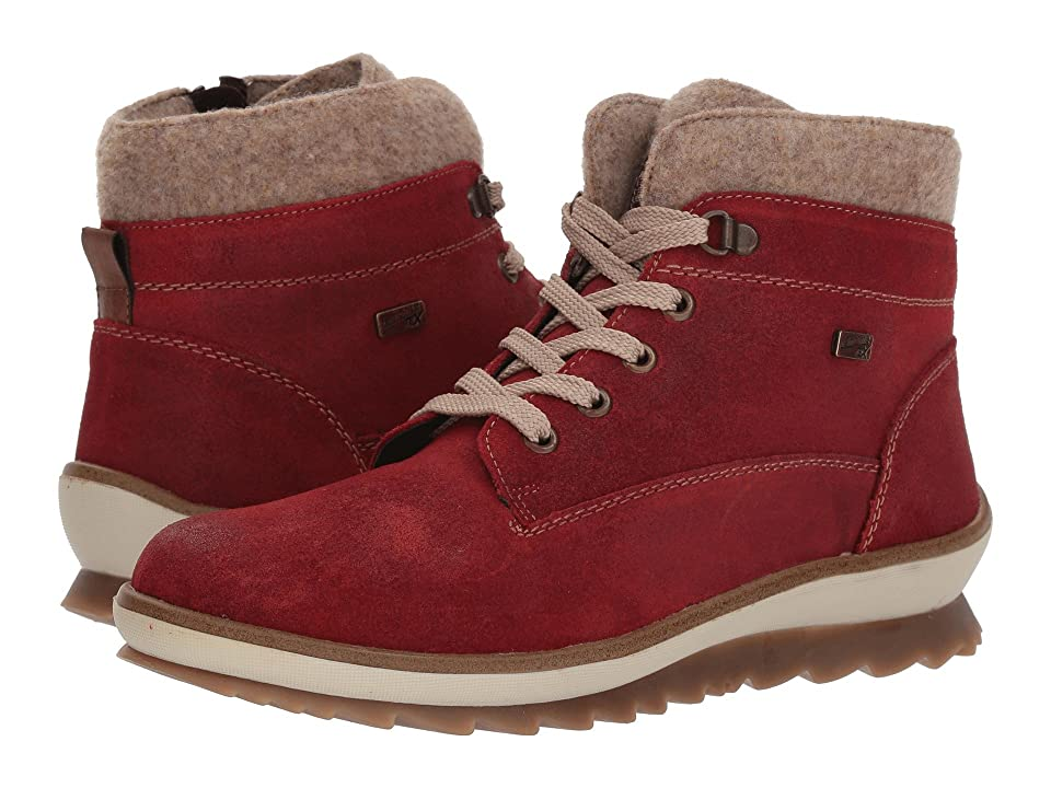 Rieker Lace-Up Boot R4370-75 (Red) Women