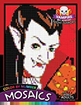 Vampire and Monsters Night Terrors Mosaic: Pixel Adults Coloring Books Color by Number Halloween Theme