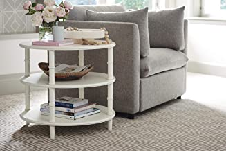 Young House Love Dashing Accent End Table, White