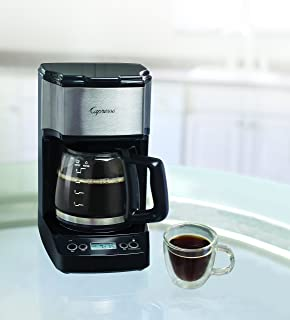 Capresso 426.05 5-Cup Mini Drip Coffee Maker, Black and Stainless Steel