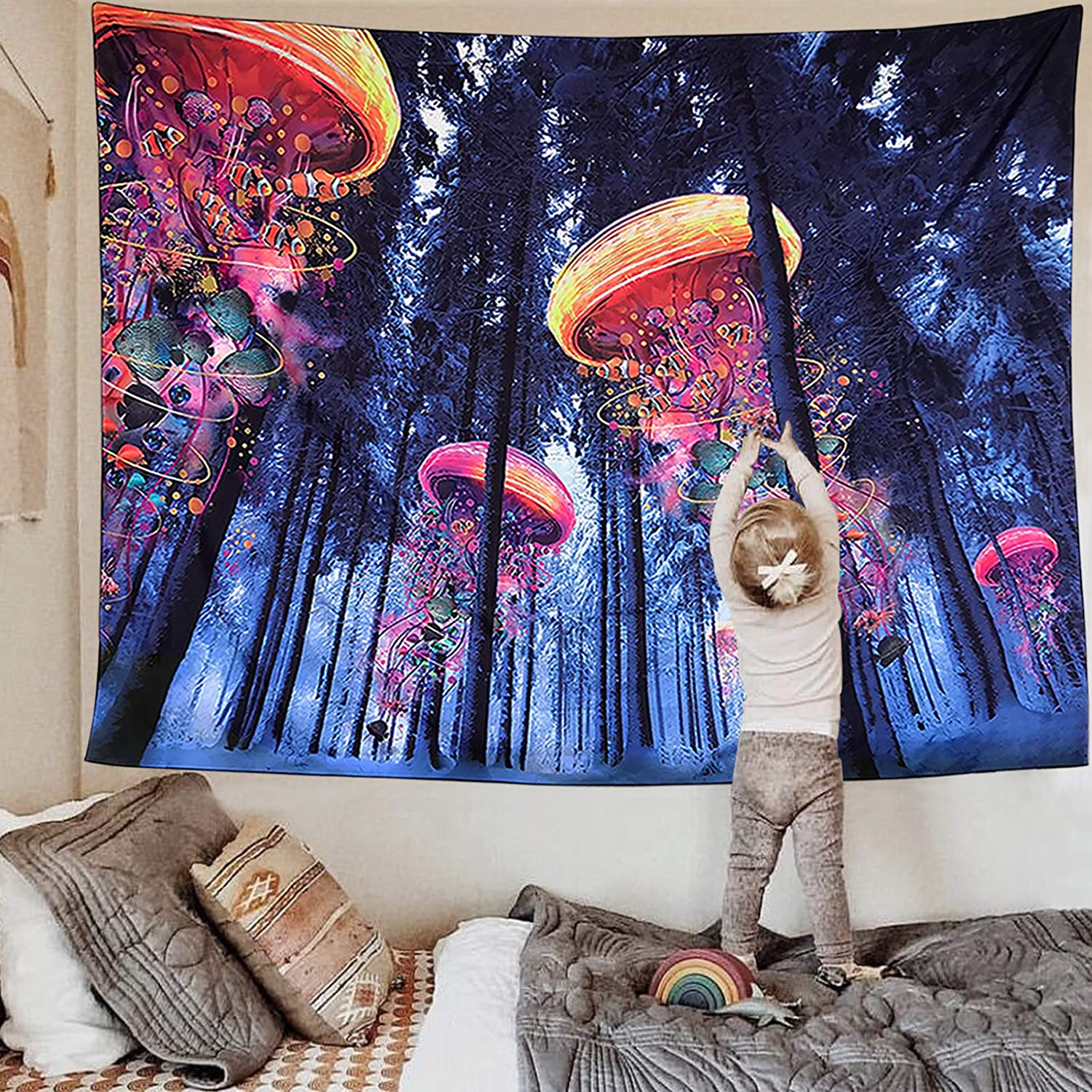FairDew Nature Tapestry 5% OFF Wall store Hanging Landscape Bedroo Forest for