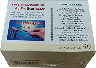 ProTechTrader Make: Easy Electronics Component Pack - Lean Basic Electronics with no Tools for Easy Electronics by Charles...