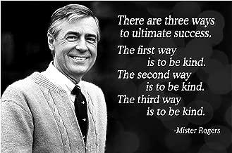 Vincit Veritas 13X19 Mr Rogers Neighborhood Quote Poster Growth Mindset Decor Teaching Kids Kindness
