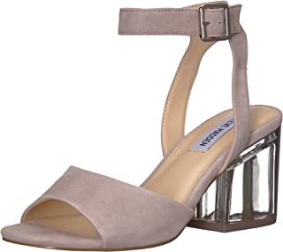 Steve Madden Women's Debbie-C Heeled Sandal, Grey Suede, 8 M US