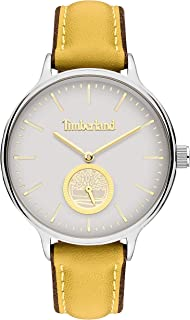 Timberland Norwell Women's Analogue Quartz Watch with White Dial and CAMEL Leather Strap - TBL.15645MYS-01