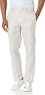 Cubavera mens Linen Y/D Herringbone Flat Front Flat Front Pant Dress Pants