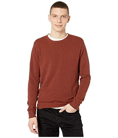 J.Crew Cotton-Cashmere Pique Crewneck Sweater (Heather Redwood) Men