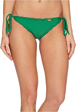 Luli Fama Cosita Buena Wavey Tie Side Ruched Full Bikini Bottom