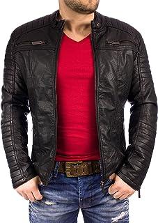 Red Bridge Cipo Baxx Dope Men's PU Leather Jacket Faux Leather Biker Jacket Swag
