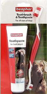 Beapharどのサイズのワンちゃんにも使える歯ブラシ&歯みがき レバー味 歯石防止効果 (並行輸入品)
