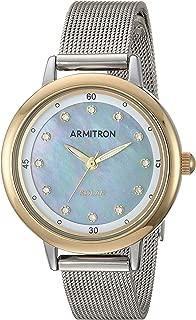 Women's Swarovski Crystal Accented Silver-Tone Mesh Bracelet Watch, 75/5712MPTT