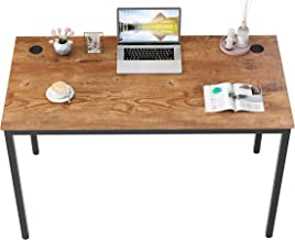 """DESIGNA Computer Desk 47"""", Modern Simple Style Desk,Study Writing Desk for Home Office, Sturdy & Easy Assemble, Embossed A..."""