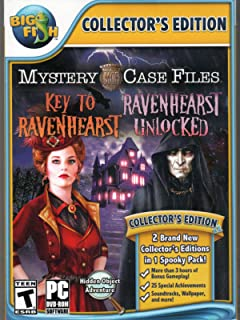 Mystery Case Files KEY TO RAVENHEARST + RAVENHEARST UNLOCKED Hidden Object PC Game