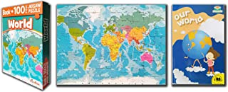 100 Pcs World Map Activity Jigsaw Puzzl With A Exciting OUR WORLD Book To Learn Everything About Our Planet Right From Big...