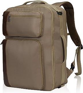 30L Carry On Backpack Mochila de Viaje Grande para Llevar Maleta de Mano para Hombres y Mujeres 17 Pulgadas 48x34x20cm Marrón