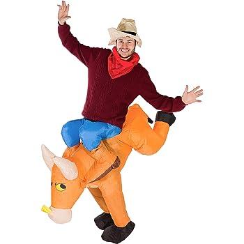 Bodysocks® Disfraz Hinchable de Toro Adulto: Amazon.es: Juguetes y ...