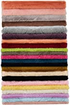 PLAIN Luxury Cotton Fleece Backed Jersey Fabric Material CREAM